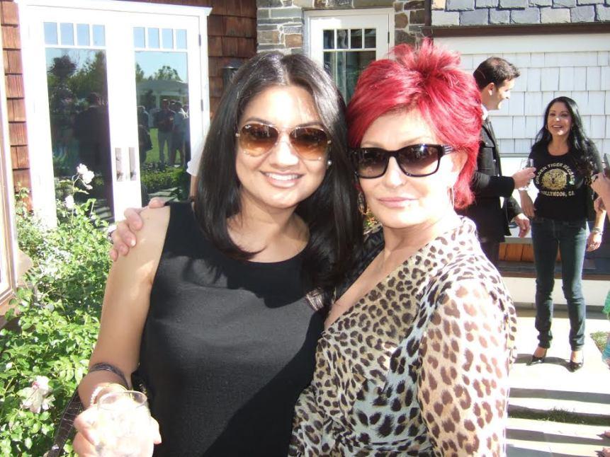 Dr. Ambardar with Sharon Osbourne on Harvey Milk Day
