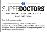 Dr. Ambardar named by Los Angeles Magazine as a Super Doctor Rising Star in 2016